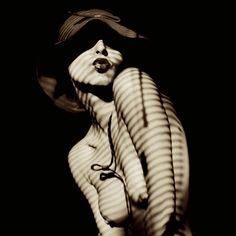 Zebra Classica by Keit on Photography Women, White Photography, Stunning Photography, Bare Beauty, Natural Beauty, Figure Photo, Shadow Play, Female Art, Fashion Photo