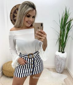 Latest Fashion, Womens Fashion, Dress For Success, Mode Style, Casual Looks, Boho Shorts, Brows, Spiderman, Mini Skirts