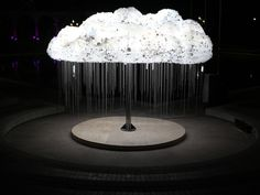 Caitlind Brown, Interactive CLOUD Sculpture made from light bulbs