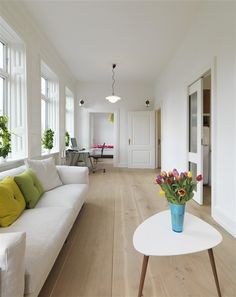 Love the colour & width of theses floor boards. Private Oasis by Dinesen Dinesen
