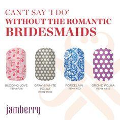 Romantic Bridesmaids - http://magnifiqueclous.jamberrynails.net/