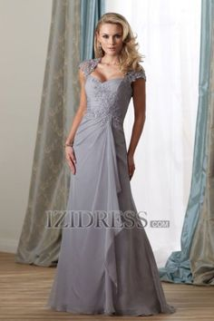 Sheath/Column Square Chiffon Lace Mother of the Bride Dress - IZIDRESS.com