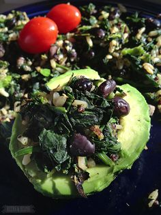 Spinach, Bean, Avocado Power Breakfast. YUM.