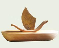 Simple, madera y bronce, 2011
