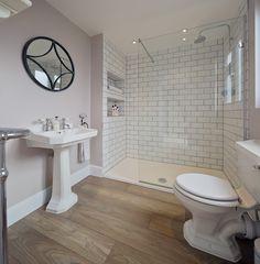 Trendy Bath Room Tiles Ideas Shower Walk In Wet Rooms 56 Ideas Wood Floor Bathroom, Bathroom Flooring, White Bathroom, Bathroom Small, Tile Floor, White Shower, Master Bathroom, Master Shower, Bathroom Storage