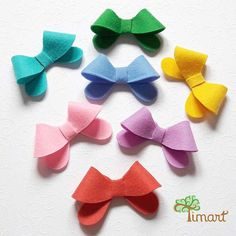 Felt Bows, Ribbon, Laser, Pets, Baby, Make Bows, Cross Stitch Flowers, Door Hangings, Manualidades