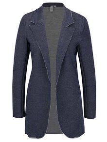 Tmavě modré dámské dlouhé sako QS by s.Oliver