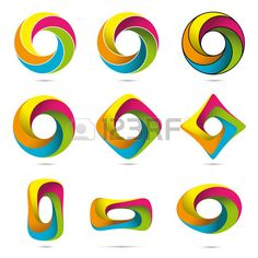 Impossible Infinite Loop Vector Design Elements Collection Easily editable with global color swatche Stock Vector