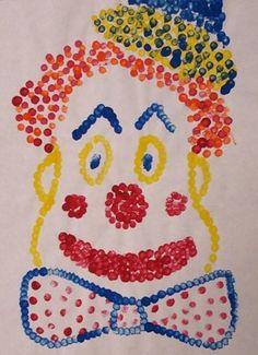 Artsonia Art Museum :: Artwork by cirque clown Clown Crafts, Carnival Crafts, Carnival Themes, Circus Art, Circus Theme, Kindergarten Art, Preschool Art, Projects For Kids, Art Projects