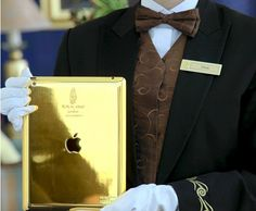 Guests at the Burj-Al-Arab hotel will now be welcomed with Gold plated iPads