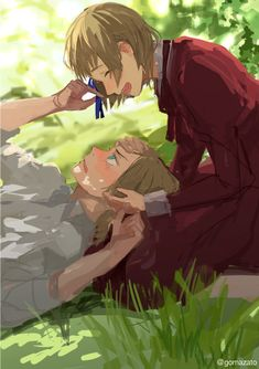 Hetalia - Switzerland and Liechtenstein❤️