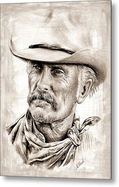 Robert Duvall, Real Cowboys, Cowboys And Indians, Western Art, Western Cowboy, Westerns, Lonesome Dove, Cowboy Pictures, Celebrity Drawings