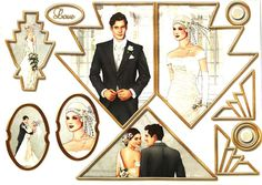 ... Moore Designs - Art Deco Wedding card toppers #7 - FoilPlay.co.uk