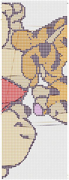 Embroidery Bracelets Patterns Winnie the pooh friendship bracelet pattern number 11417 - For more patterns and tutorials visit our web or the app! Bead Loom Patterns, Craft Patterns, Beading Patterns, Stitch Patterns, Winnie The Pooh, Embroidery Shop, Embroidery Patterns, Friendship Bracelet Patterns, Friendship Bracelets