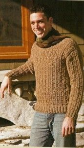 mens #crochet mock cable sweater