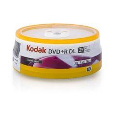 Kodak 50120 8x DVD+R - 25 Pack by Kodak. $15.84. Kodak Media Product DVD+R DL 8.5 GB 25 Pack Cake Box 50120