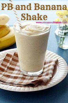 PB and Banana Power Shake to Start Your Morning!