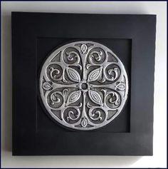 Mandalas Aluminum Foil Art, Aluminum Can Crafts, Metal Crafts, Aluminium Foil, Pewter Art, Pewter Metal, Metal Wall Decor, Metal Wall Art, Roman Clock