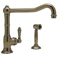 Buy the Rohl Polished Chrome Direct. Shop for the Rohl Polished Chrome Italian Kitchen Cinquanta GPM Deck Mounted Single Hole Faucet with Single Lever Porcelain Handle and save. Kitchen Sink Faucets, Kitchen Fixtures, Kitchen Handles, Brass Handles, Kitchen Cabinets, Brass Hardware, Kitchen Backsplash, Kitchen Appliances, Country Farmhouse Decor
