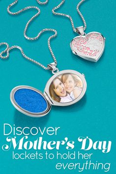 A personalized locket is the perfect way to say Happy Mother's Day! Free shipping on orders of $100 or more. #ShaneCo
