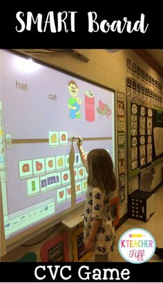 Word Activities for SMARTboard My kindergarten students LOVE this CVC word smart board game!My kindergarten students LOVE this CVC word smart board game! Kindergarten Centers, Kindergarten Reading, Kindergarten Classroom, Teaching Reading, Student Teaching, Music Classroom, Student Games, Smart Board Activities, Smart Board Lessons