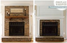 Seriously amazing fireplace,  need to use this as guide to get rid of all the brick on mine!