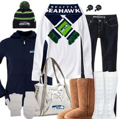 Seattle Seahawks Inspired Winter Fashion