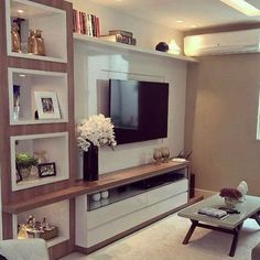 Ideas Apartment Living Room Decor Ideas On A Budget Interior Design Living Room Tv, Apartment Living, Home And Living, Small Living, Apartment Therapy, Contemporary Decor, Contemporary Architecture, Contemporary Chandelier, Contemporary Stairs