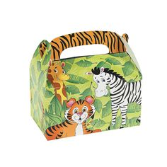 Kids will go wild for these Zoo Animal Treat Boxes. A fun addition to your zoo theme party supplies, these cardboard treat boxes are just the right si. Safari Party, Zoo Party Themes, Jungle Party, Party Ideas, Jungle Theme, Jungle Jam, Jungle Life, Safari Theme, Jungle Safari
