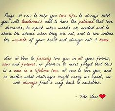 The cutest wedding vows #wedding #weddingvows #thevow