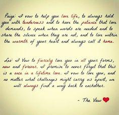 The cutest wedding vows #wedding #weddingvows #thevow