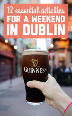 12 essential activities for a weekend in Dublin! / A Globe Well Travelled Travel Articles, Europe Travel Tips, Travel Guides, Travel Destinations, Travel Plan, European Destination, European Travel, England, Ireland Travel