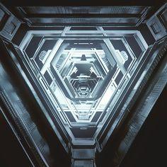 everydays - november 2014 on Behance Spaceship Interior, Sci Fi Environment, Most Beautiful Wallpaper, Futuristic Design, Cinema 4d, Motion Design, 3d Design, Cube Design, Concept Art