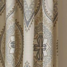 Lanterna 84-Inch Window Curtain Panels, 100% Cotton in Sandstone