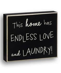This Black 'This Home' Wall Sign is perfect! #zulilyfinds