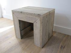 Kruk / bijzettafel | Steigerhout | Te koop bij w00tdesign | by w00tdesign | Meubels van steigerhout