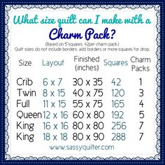 CharmPackChart - lots of great quilting charts here