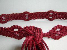 DIY Macrame Tie Belt