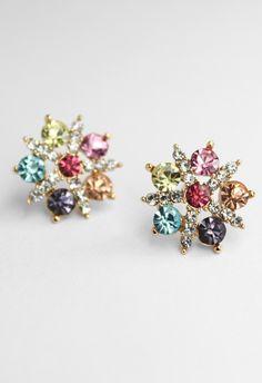 Colorful Diamond Snowflake Earrings christmas winter seasonal jewellry