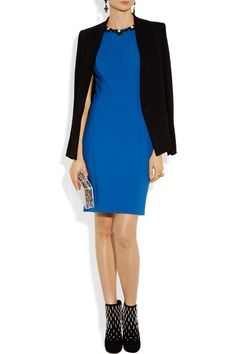 Jason Wu | Embellished double-faced wool-blend dress | NET-A-PORTER.COM