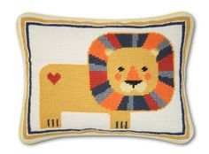 Cross stitch lion. No scheme is provided, but the pattern would be easy to copy from the photo.