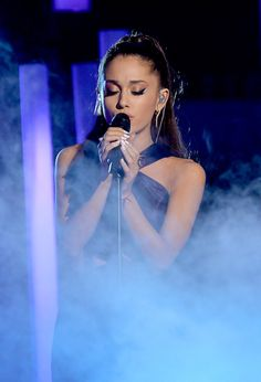 """""""Ariana Grande performs 'Just a Little Bit of Your Heart' onstage during The 57th Annual GRAMMY Awards at the at the STAPLES Center on February 8, 2015 in Los Angeles, California. """""""