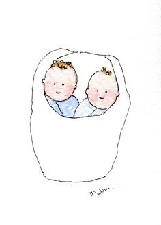 twin baby cards by heathertatum cards available in my etsy shop link