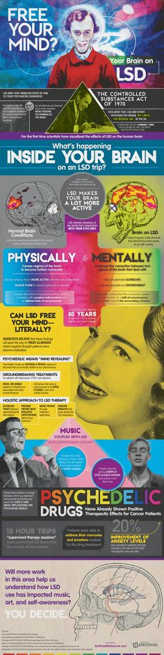 Free Your Mind: Your Brain on LSD #Infographic #Health #MentalHealth