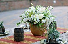 flowers, herbs etc Italian Wedding Themes, Rustic Italian Wedding, Italian Theme, Italian Party, Tuscan Wedding, Floral Centerpieces, Wedding Centerpieces, Floral Arrangements, Purple Wedding Cakes