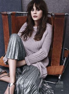 Zooey Deschanel Photoshoot for InStyle Magazine August 2014 Issue, Zooey Deschanel Style, Outfits and Clothes. Instyle Magazine, Zooey Deschanel Style, Emily Deschanel, Revista Instyle, Anastasia, Jessica Day, Shows, People, New Girl