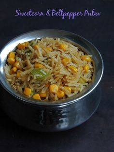 Vegan Sweetcorn & Bellpepper Pulao