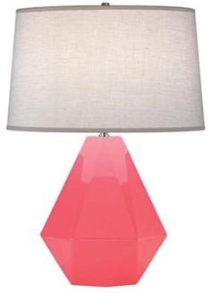 Robert Abbey Delta Schiaparelli Pink Table Lamp