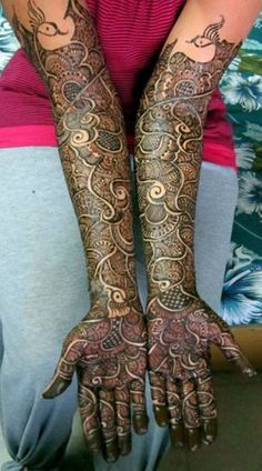 10 Beautiful Rajasthani Bridal Mehandi Designs -COMPLEX