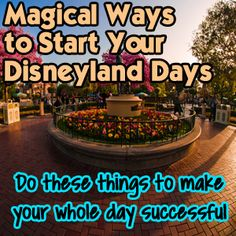 Updated January 9, 2017 The success of your morning can determine how your entire day goes at Disneyland. I have some tips for you on how to make the most of your time and how to get everyone started in the right direction. The benefits of an early arrival are plentiful. Save your slumber for...